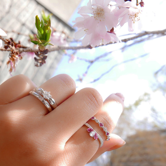 イサロイリング「cherry blossoms 八重桜」