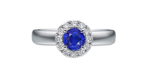 イサロイ「ブライダルリングRosette 青いバラ」